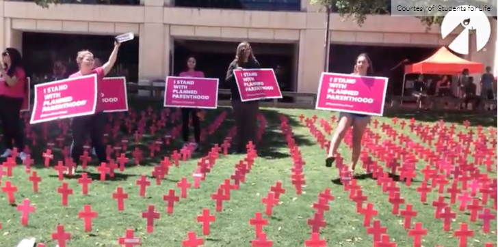 San Antonio Students Dance on Mock Fetus Graves